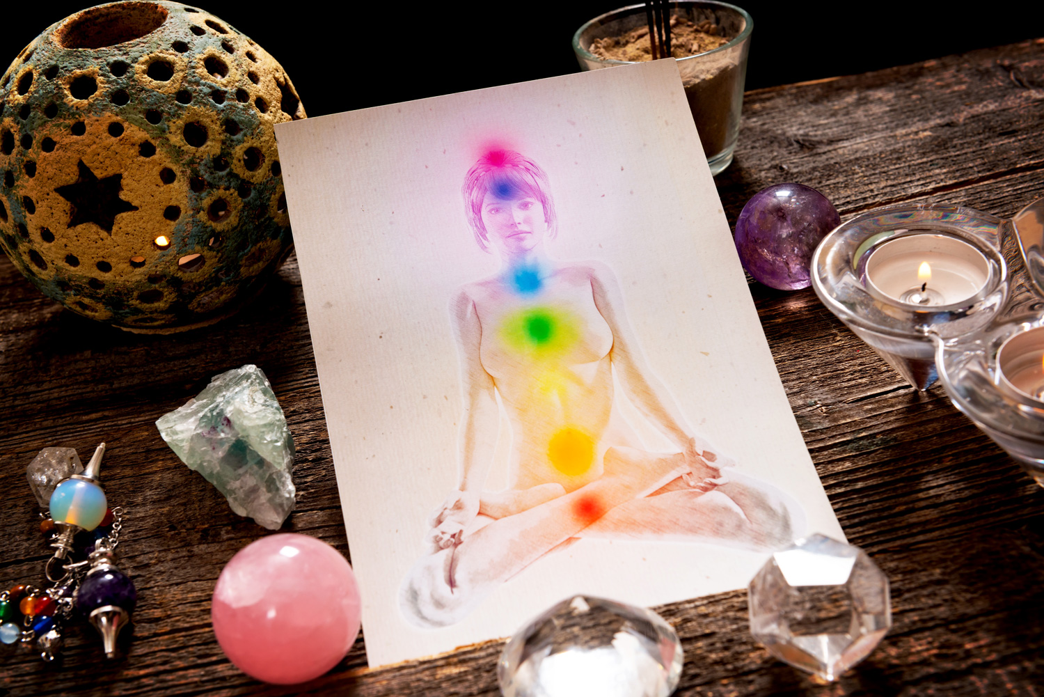 7 Colours of the Rainbow and 7 Chakras